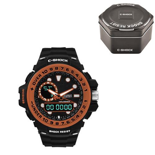 Часы наручные C-Shock GWN-1000GB Black-Orange+Box
