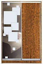 Шкаф-купе Стандарт двухдверный ДСП + зеркало + пескоструй на 1 двери, фото 3