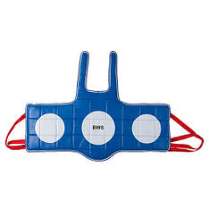 Защита груди BWS, PVC, красно-синяя