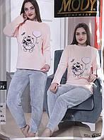 """Пижама женская тёплая MODY махровая, размеры M-2XL """"SHELLY"""" недорого от прямого поставщика"""
