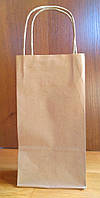 Пакет бумажный подарочный с ручками, крафт эко 70гр./м2, 130х75х250 (250/500шт./уп.).