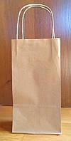 Пакет паперовий подарунковий з ручками, крафт еко 70гр./м2, 120х80х250 (100шт./уп.)