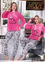 """Пижама женская махровая MODY (Турция) размеры M-2XL """"SHELLY"""" недорого от прямого поставщика"""