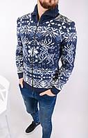 Мужской стильный вязанный свитер (с оленями)