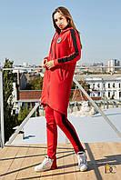 Костюм женский, цвет: красный, размер: S-M-L