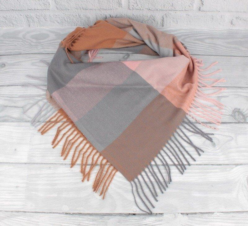 Кашемировый платок в клетку Cashmere 7980-6