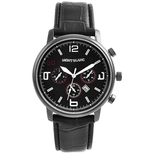 Часы наручные мужские 6713 Montblanc Black Bk-Bk (копия)