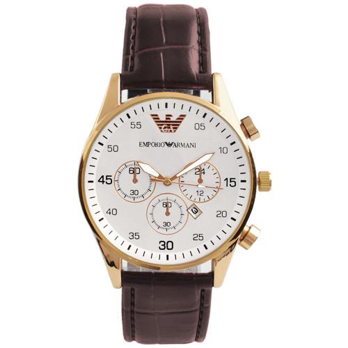 Часы наручные мужские 6990 Emporio Armani White G-Br (копия)