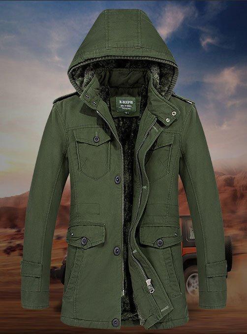 Ruidu original 100% хлопок Мужская куртка еврозима