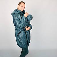 Нефрит - теплая и продуманная зимняя куртка 3 в 1 (слингоношение/беременность/после). Цена производителя!, фото 1