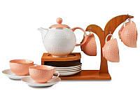 Чайный набор Lefard на бамбуковой подставке 13 предметов