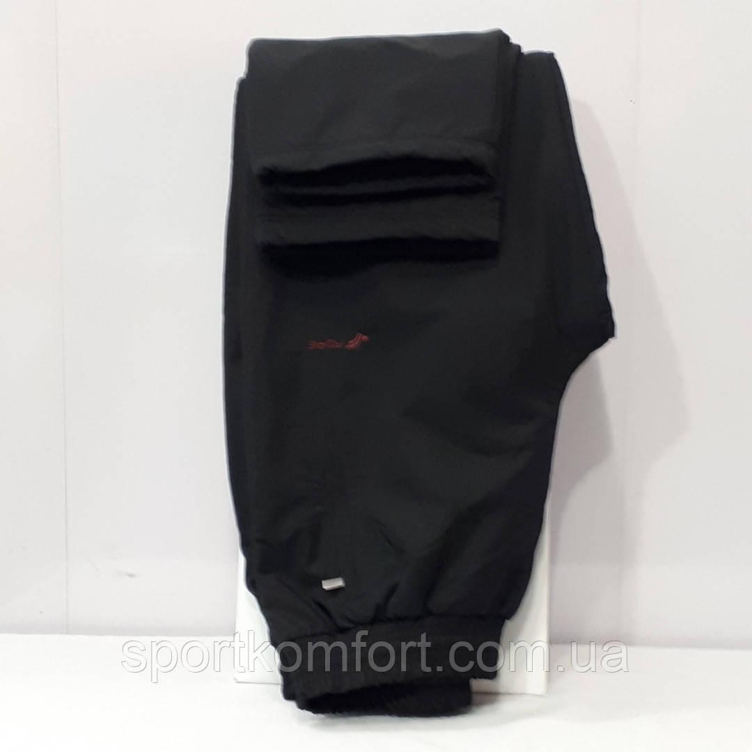 Тёплые из плащёвой ткани на флисе прогулочные штаны Fore Турция чёрные