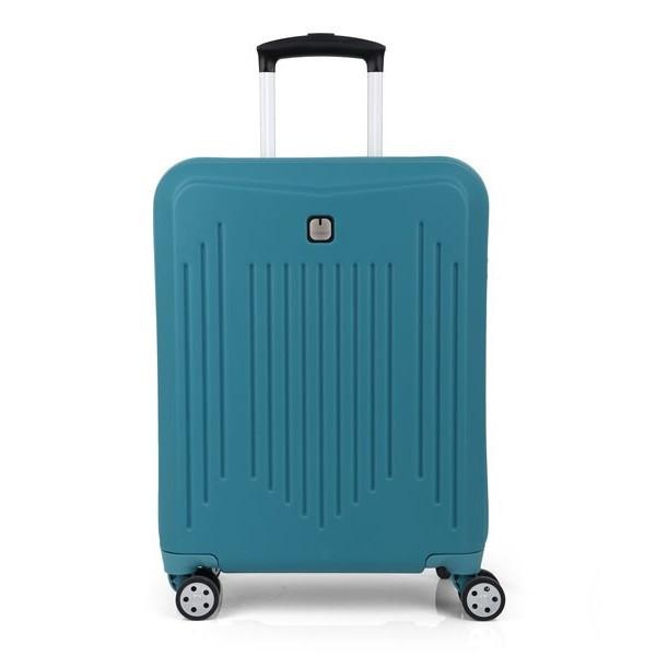 Чемодан дорожный на колёсах для ручной клади Gabol Clever (S) Turquoise, 37 л. (400x550x200 см.)