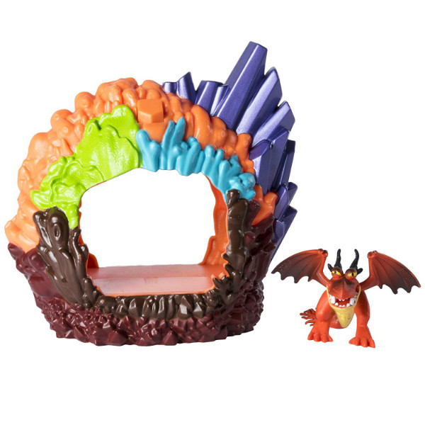DreamWorks Dragons Как приручить дракона 3 Логово дракона Кривоклык 20103606 Hookfang Hidden World Playset