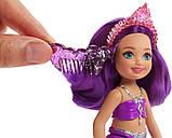 Barbie Барби Дримпопия Челси русалка Драгоценных гор FKN06 Dreamtopia Sparkle Mountain Mermaid Doll, фото 3