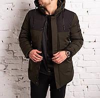 ЛЮКС! Парка мужская зимняя в стиле Puma Х khaki до -30°С   куртка мужская зимняя