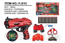 Бластер FJ013 з тверд. патронами,мішенню і набором