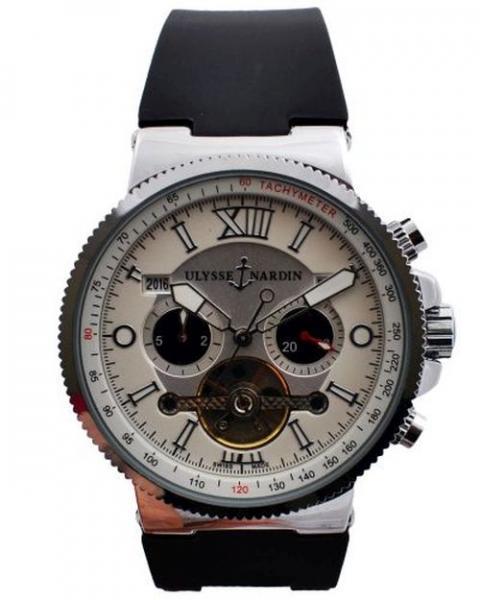Часы наручные мужские 10 Ulysse Nardin-Maxi Marine (копия)