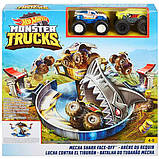 Hot Wheels трек опасное противостояние акуле FYK14 Monster Trucks Mecha Shark Face-off Playset, фото 7