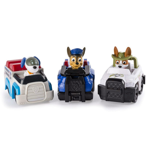 Paw Patrol Щенячий патруль набор Чейз, Робопес, Круз Racers Vehicle Set, Chase, Robodog & Tracker
