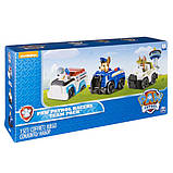 Paw Patrol Щенячий патруль набор Чейз, Робопес, Круз Racers Vehicle Set, Chase, Robodog & Tracker, фото 4