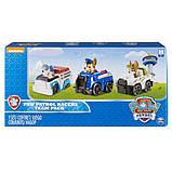 Paw Patrol Щенячий патруль набор Чейз, Робопес, Круз Racers Vehicle Set, Chase, Robodog & Tracker, фото 5