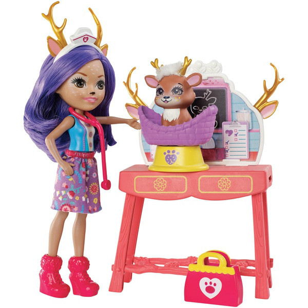 Enchantimals Данесса Дир Заботливый ветеринар GBX04 Caring Vet Playset with Danessa Deer Doll