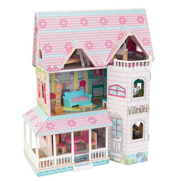 KidKraft Кукольный домик дом Усадьба Аббатства 65941 Abbey Manor Pink Dollhouse