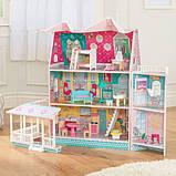 KidKraft Кукольный домик дом Усадьба Аббатства 65941 Abbey Manor Pink Dollhouse, фото 3