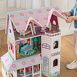 KidKraft Кукольный домик дом Усадьба Аббатства 65941 Abbey Manor Pink Dollhouse, фото 4