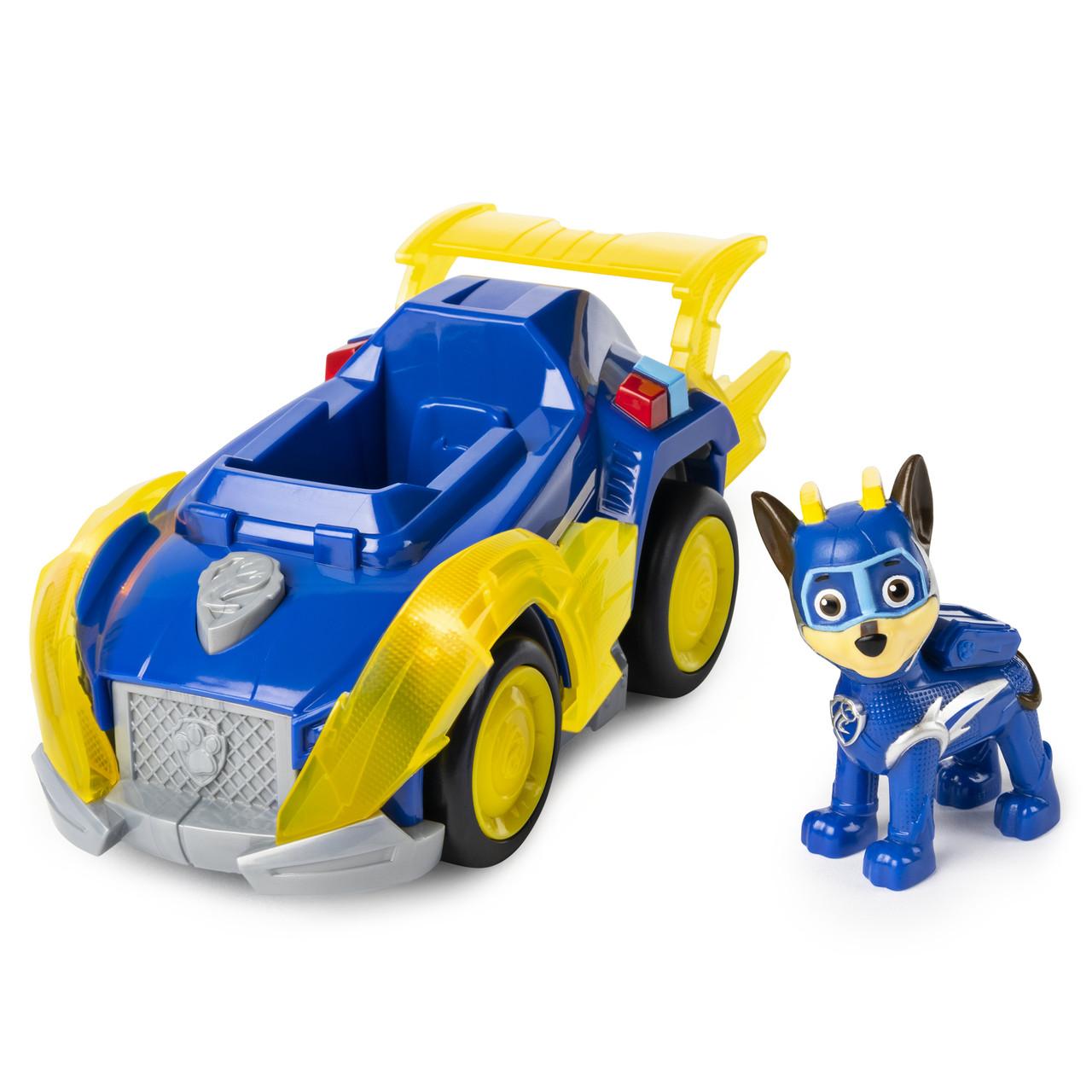 Paw Patrol Щенячий патруль Могучие Щенки Гонщик Чейз Mighty Pups Super Paws Chase's Deluxe Vehicle