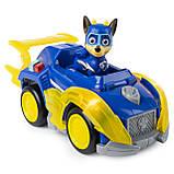 Paw Patrol Щенячий патруль Могучие Щенки Гонщик Чейз Mighty Pups Super Paws Chase's Deluxe Vehicle, фото 3