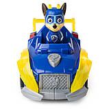 Paw Patrol Щенячий патруль Могучие Щенки Гонщик Чейз Mighty Pups Super Paws Chase's Deluxe Vehicle, фото 4