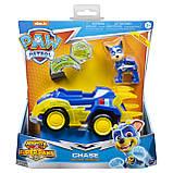 Paw Patrol Щенячий патруль Могучие Щенки Гонщик Чейз Mighty Pups Super Paws Chase's Deluxe Vehicle, фото 6