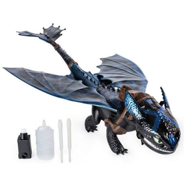 DreamWorks Dragons Беззубик Toothless дышит паром Как приручить дракона Огнедышащий 6045435 Giant Fire