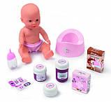 Smoby Кровать для куклы пупса с полкой и съемным столиком Прованс 220353 Baby Nurse provans, фото 4