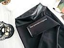 Потрясающе стильные теплые лосины леггинсы кожа на флисе утепленные Л-ка черные, фото 7