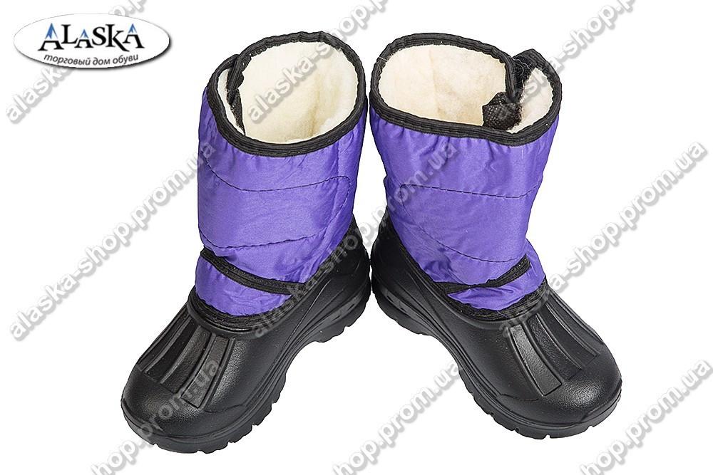 Детские дутики фиолетовые (Код: ТС липучка)