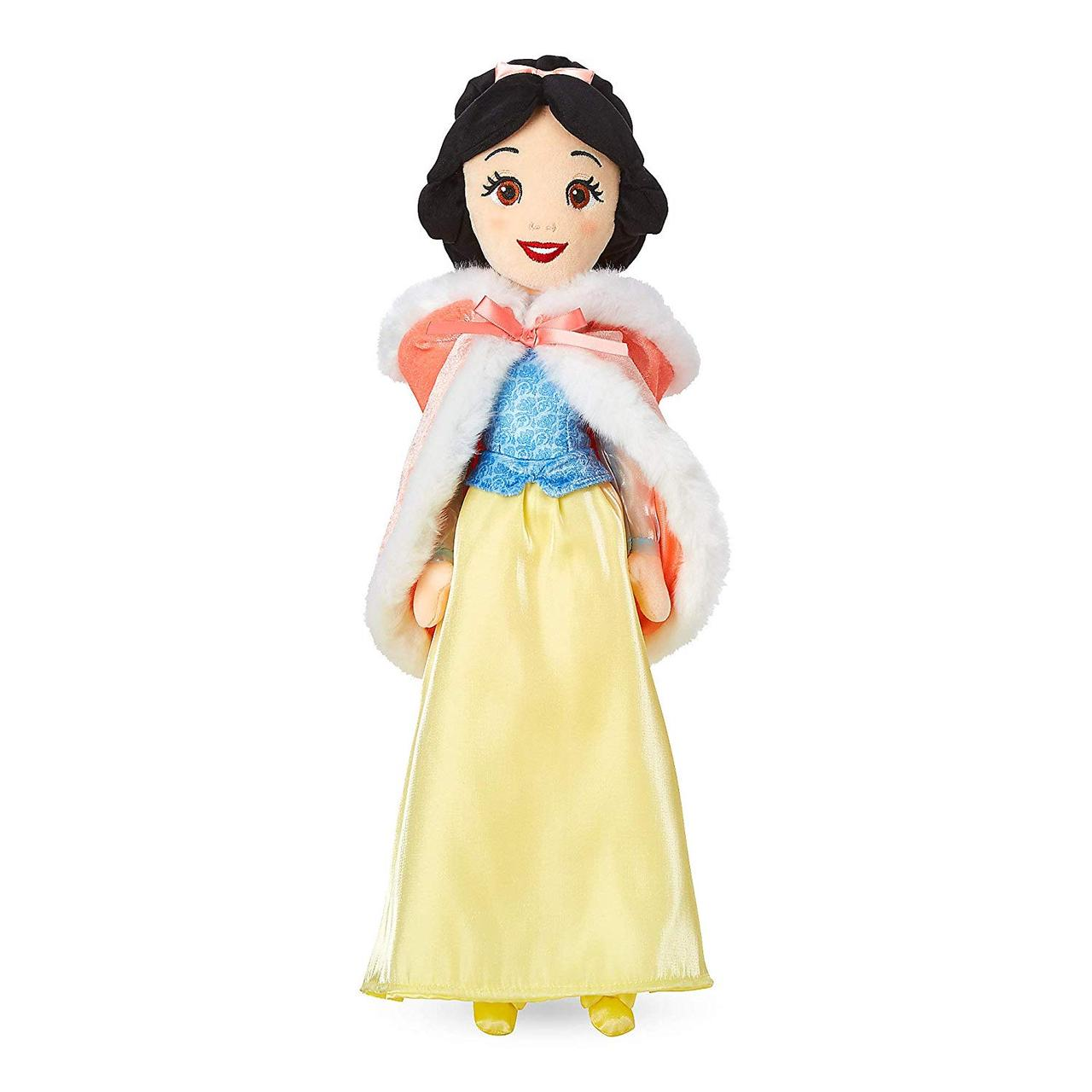 Disney Мягкая игрушка кукла Белоснежка в меховой накидке Snow White Plush Doll in Winter Cape Medium 19 Inch