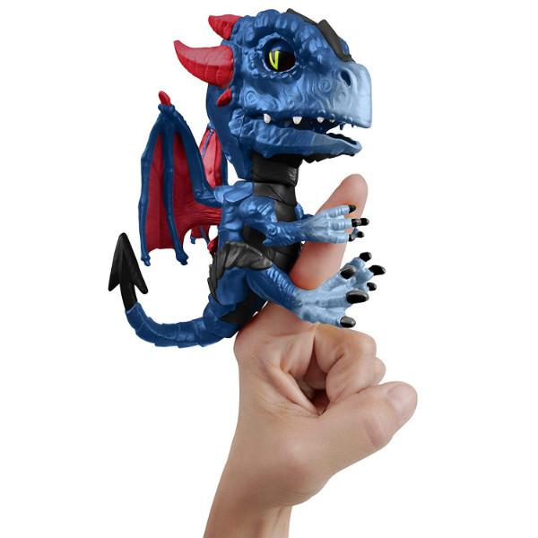WowWee Fingerlings Интерактивный ручной дракон 3864 Shockwave Untamed Dragon