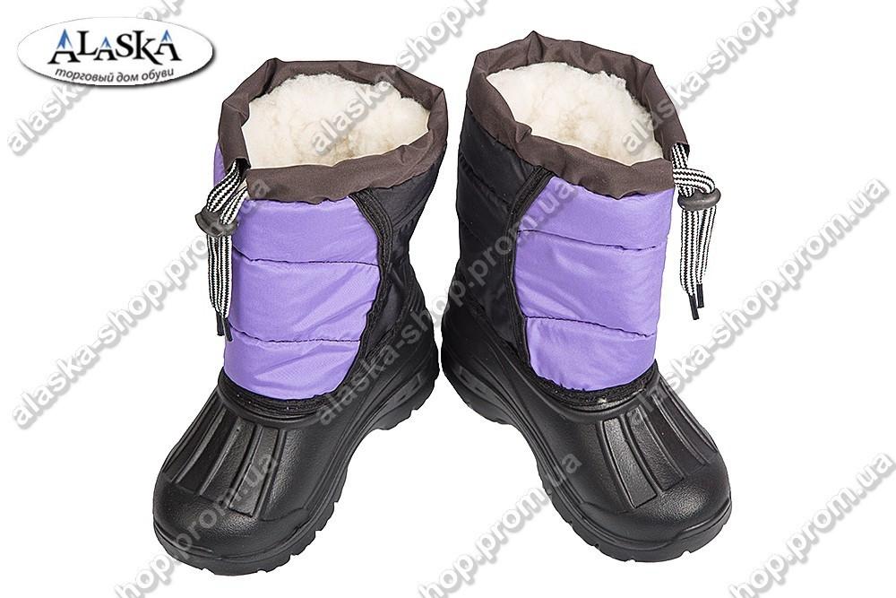 Детские сапоги фиолетовые (Код: ТС шнурок)