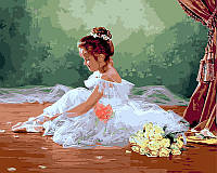 Раскраска по цифрам Балеринка Худ Джейн Лиза (VP439) 40 х 50 см