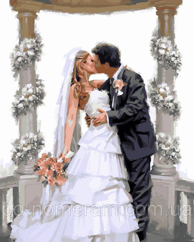 Раскраска по цифрам DIY Babylon Свадебная арка Худ МакНейл Ричард (VP452) 40 х 50 см