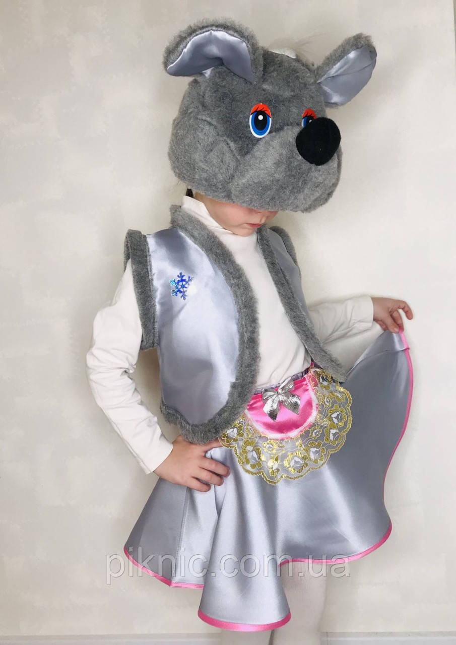 Костюм Мышка 4-7 лет Детский карнавальный новогодний для девочки 342