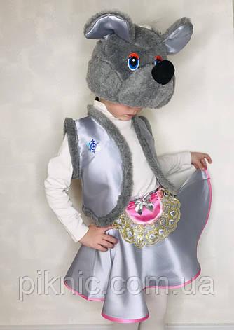 Костюм Мышка 4-7 лет Детский карнавальный новогодний для девочки 342, фото 2