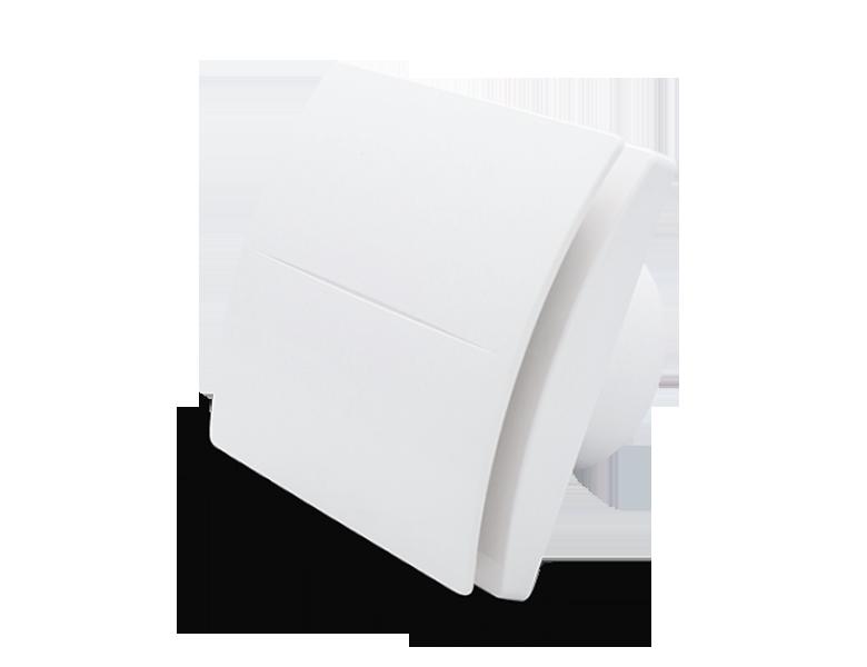 Вытяжной вентилятор Aerauliqa QD100 BB HT (83м3/ч,26дБ,таймер, датчик влажности)