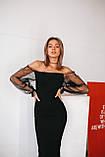 Платье женское вечернее чёрное, фото 6