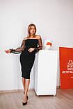 Платье женское вечернее чёрное, фото 3