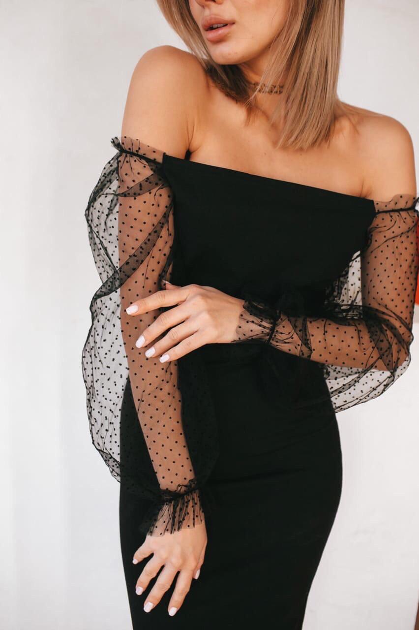 Платье женское вечернее чёрное