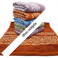 Банное полотенце с абстрактным принтом. Размер:1,4 x 0,7